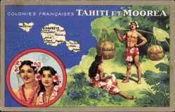 Künstler Ak Tahiti, Moorea, Colonies Francaises, Océan Pacifique