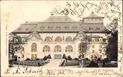 Haltgegendaslicht Ak Mönchengladbach, Die Kaiser Friedrich Halle
