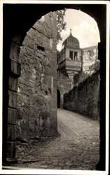 Schlossaufgang, Terrassenerker