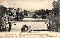 Großer Teich, Drahtseilbrücke