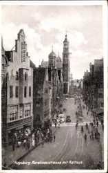 Karolinenstraße mit Rathaus