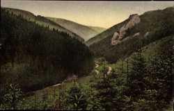 Blick in den Silbergraben, Räuberstein