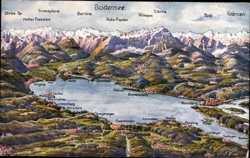 Landkarten Ak Bodensee