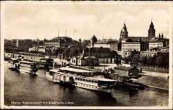 Rheinansicht mit Stadthalle und Dom