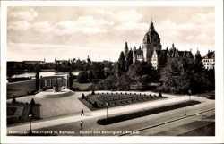 Maschpark, Rathaus, Rudolf von Bennigsen Denkmal