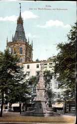 Jean von Werth Brunnen, Rathausturm