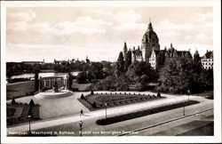 Maschpark, Rathaus, Bennigsen Denkmal