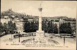Place Castellane et vue sur Notre Dame de Garde
