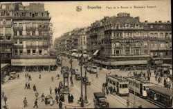 Place de la Bourse et Boulevard Anspach