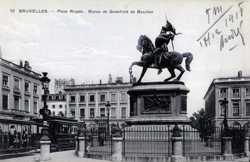 Place Royale, Stutue de Godefroid de Bouillon