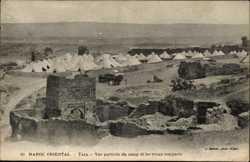 Vue partielle du camp, les vieux remparts