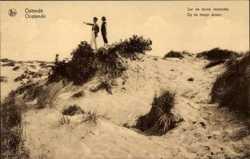 Sur les dunes escarpees